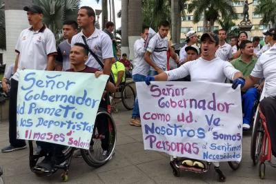 Deportistas paralímpicos de Santander exigen mayor apoyo de la Gobernación