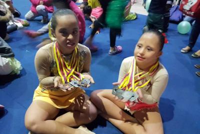 Gimnastas santandereanas ganan medallas en nacional de Special Olimpycs