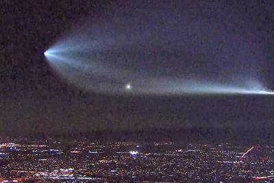 Video registró increíble cohete de SpaceX volando por California