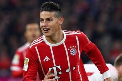 Golazo de James Rodríguez marcó el 3-1 en la victoria del Bayern