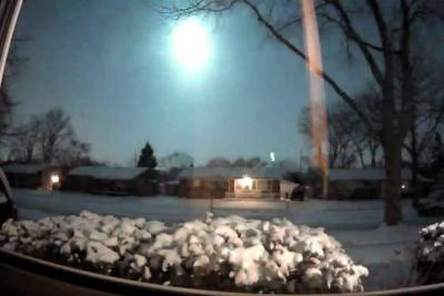 Videos registraron el momento en que cayó un meteorito en Estados Unidos