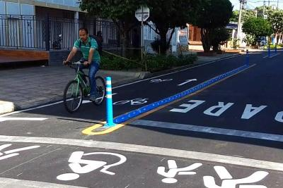 Así van los primeros 2,6 kilómetros de ciclorruta de Bucaramanga