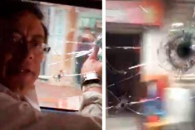 Así fue el ataque contra la camioneta de Gustavo Petro en Cúcuta