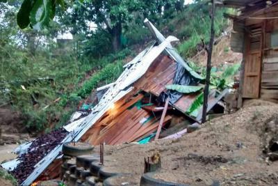 Aguacero de este lunes  generó varias emergencias en Bucaramanga y el área metropolitana