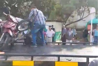 Bumangueses aplaudieron a motociclista que burló e irrespetó a alféreces