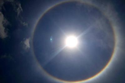 Registran doble halo solar en Bucaramanga y varios municipios de Santander