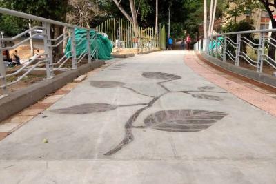 Con sendero peatonal en Bucarica buscan luchar contra la inseguridad