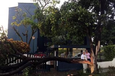 Tras fuerte lluvia reportan emergencias menores en Bucaramanga y el área