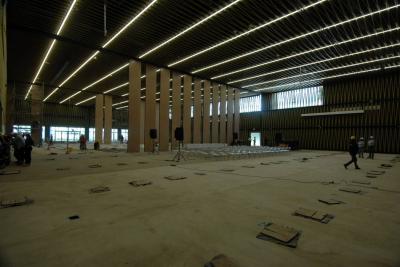 Al gran salón del Centro de Convenciones de Bucaramanga le falta 8% para terminarse