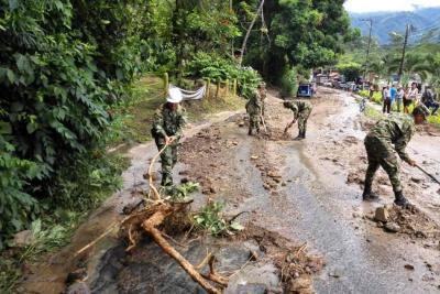 Así quedó San Vicente del Chucurí, Santander, tras el torrencial aguacero