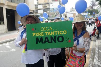 Así avanzó la Comparsa de la Santandereanidad que recorrió las calles de Bucaramanga