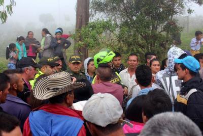 Piden aclarar incidente con la Policía durante protesta contra minería en Santander