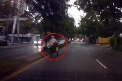 Imprudencia en el anillo vial de Bucaramanga por poco ocasiona un accidente