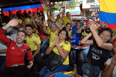 Así vivieron los bumangueses el triunfo de Colombia ante Polonia