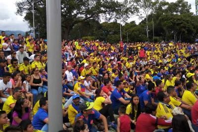 Así celebró Bucaramanga el gol de Yerry Mina