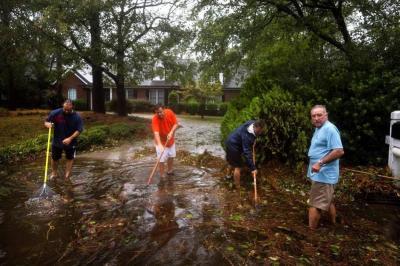 La emergencia que dejó el huracán Florence en Estados Unidos