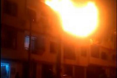Fuerte incendio generó pánico en Bucaramanga