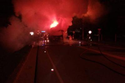Motociclista falleció tras chocar contra un bus intermunicipal en Piedecuesta