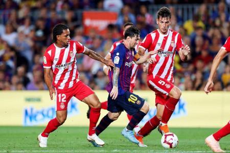 Lionel Messi marcó un tanto en el empate 2-2 de Barcelona ante el Girona. El elenco 'catalán' cedió los primeros puntos en la Liga española y ahora comparte el primer lugar con Real Madrid.