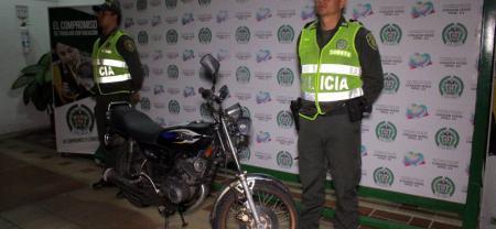En lo que va de 2017 la Policía ha capturado 54 personas por hurto y ha logrado la recuperación de 164 motocicletas.