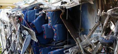 Policía Antinarcóticos de Ecuador confirmó hallazgo de cocaína en bus accidentado