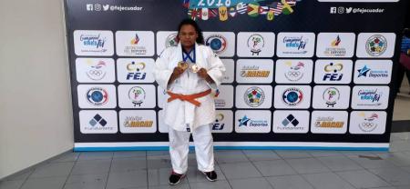 Angelina Palacio logró dos bronces en Guayaquil, al ser tercera en el Panamericano y en el Suramericano de Judo sub 13.