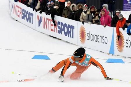 Ridícula presentación de un venezolano que pisó la nieve por primera vez en el Mundial de Esquí